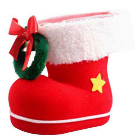 9 - D4313 K10.4.07 Christmas Candy Boot Ornament - RED
