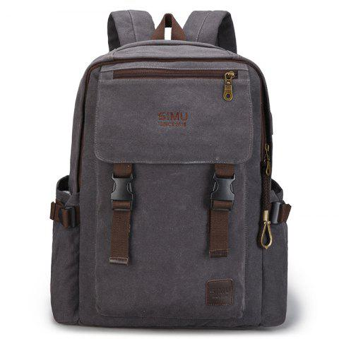 Men's High School Students Large-capacity Backpack - GRAY