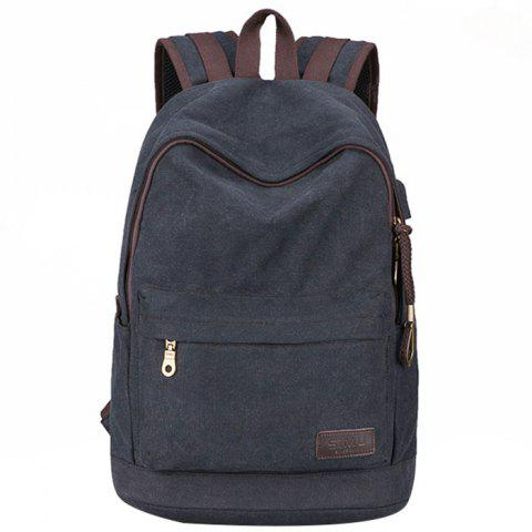 Computer Outdoor Sports Rechargeable Zipper Backpack - ASH GRAY