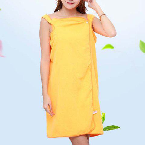 Simple Thickened Changeable Bath Towel - YELLOW