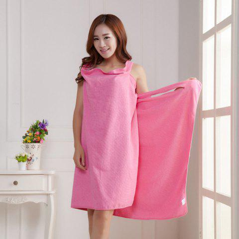 Wearable Thickened Changeable Warm Lunch Break Dress Bath Towel - WATERMELON PINK