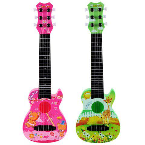 890 - B9 Six - string Anime Guitar Musical Instrument Early Education Educational Toys - ROSE RED REGULAR