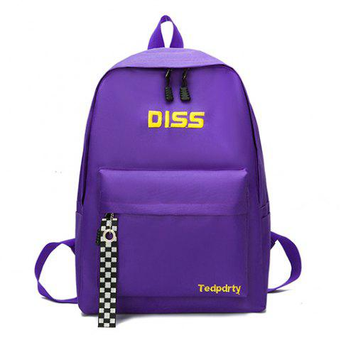 7925 Personality Wild Casual Small Fresh College Wind Travel Backpack - PURPLE