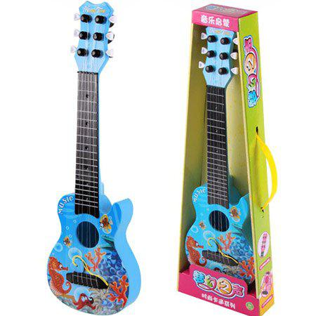890 - B9 Six - string Anime Guitar Musical Instrument Early Education Educational Toys - BLUEBERRY BLUE REGULAR