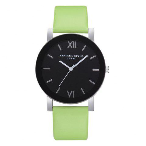 Lvpai P678 Black Mirror Business Ladies Montre à Quartz - Vert
