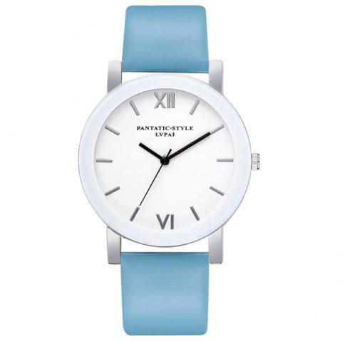 Lvpai P677 Simple Business Quartz Montre - Bleu Ciel
