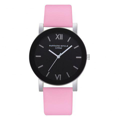 Lvpai P678 Black Mirror Business Ladies Montre à Quartz - Rose