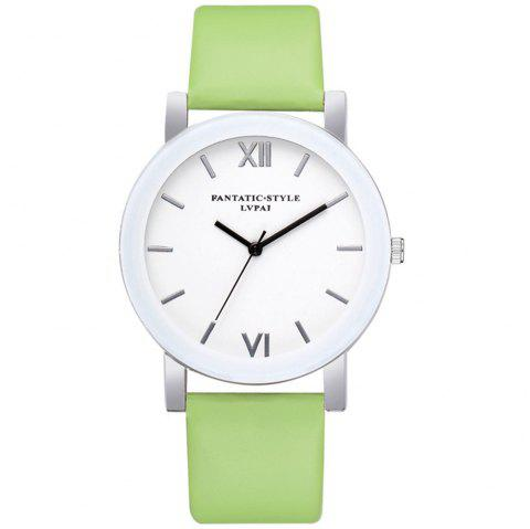Lvpai P677 Simple Business Quartz Watch - GREEN