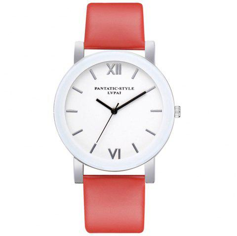 Lvpai P677 Simple Business Quartz Montre - Rouge