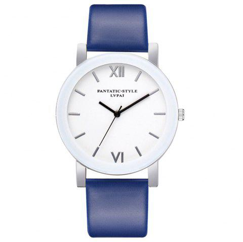Lvpai P677 Simple Business Quartz Montre - Bleu