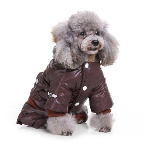 Air Force Suits Four-legged Winter Pet Dog Clothes - COFFEE XL