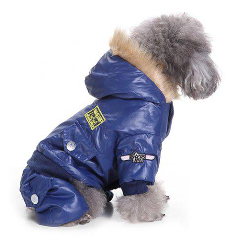 Air Force Suits Four-legged Winter Pet Dog Clothes - COBALT BLUE L