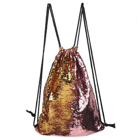 Variety Sports Drawstring Storage Shoulder Bag - ROSE GOLD
