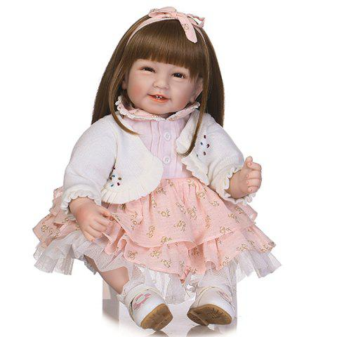 NPK Simulation Long Hair Princess Baby Doll - LIGHT SALMON