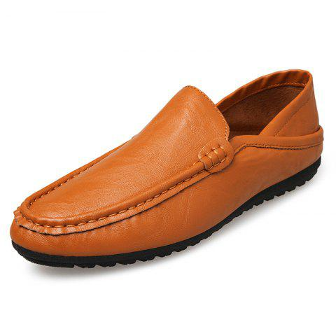 D803 Fashion Comfortable Men Shoes - BROWN EU 43