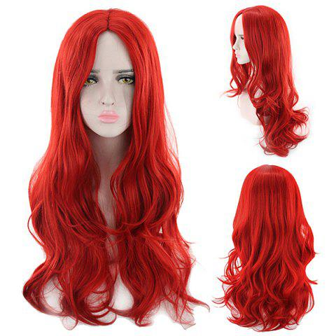 Popular Personality Color Woman Wig - RED WINE