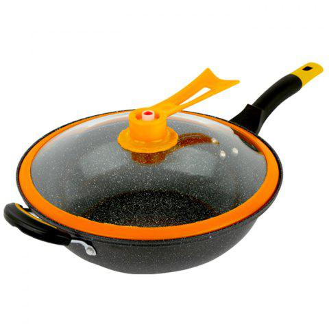 Double Bottom Frying Non-stick Pan - BLACK