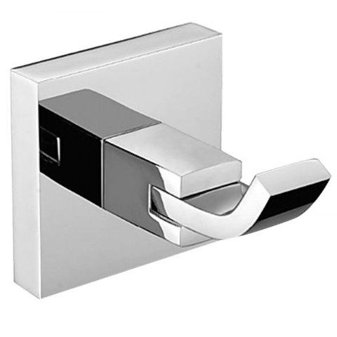 BATHINF 51310 304 Stainless Steel Bathroom Single Towel Hook ( with Nail-free Glue ) - SILVER