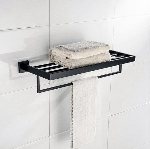 BATHINF Black Antique Series Rust Resistant 304 Stainless Steel Bathroom Accessories Towel Rack - BLACK