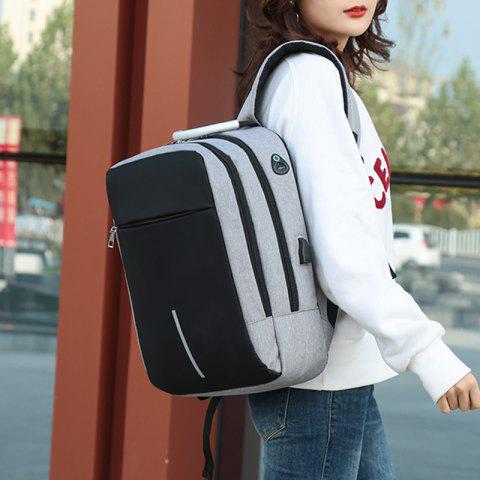 Men's Backpack Student Package Female College Business Travel Computer Bag - GRAY CLOUD