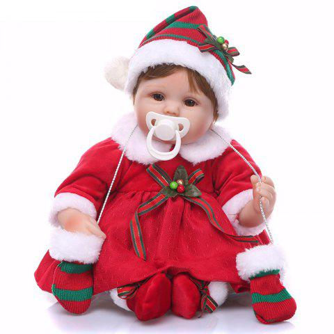 NPK Silicone Reborn Baby Doll Kids Toy Christmas Gift - RED