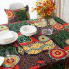 Bohemian Mediterranean Linen Party Meal Cotton Table Cloth - multicolor 140 X 200CM