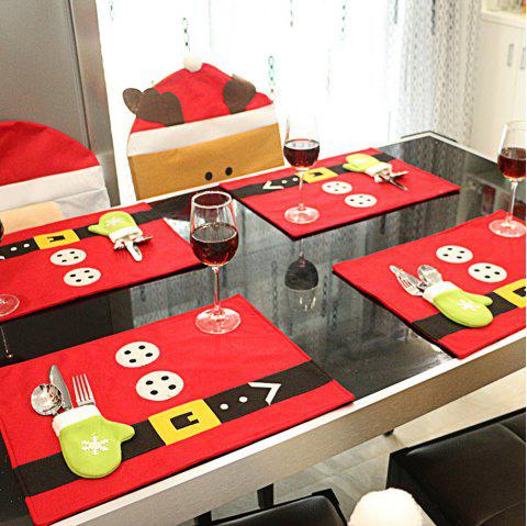 Creative Christmas Party Home Restaurant Table Mat Decoration Accessories - RED