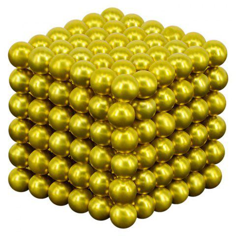 216 Super Strong Magnetic Round Ball Toy 5mm - GOLD
