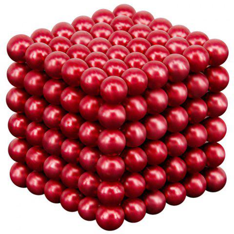 216 Super Strong Magnetic Round Ball Toy 5mm - RED