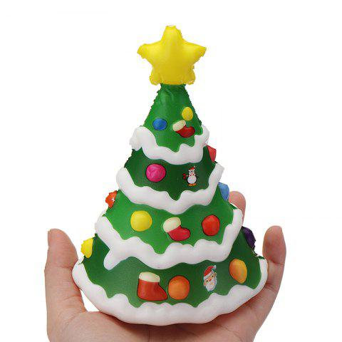 Soft Slow Rising with Packaging Collection Gift Christmas Tree Squishy Toy - GREEN