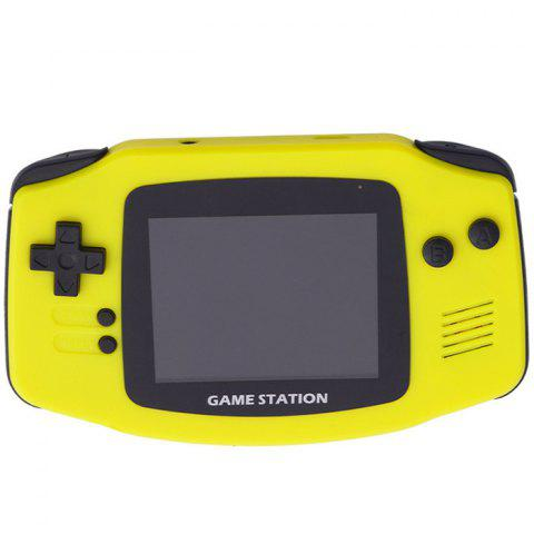 Mini Retro Handheld Game Console with 400 Games - YELLOW
