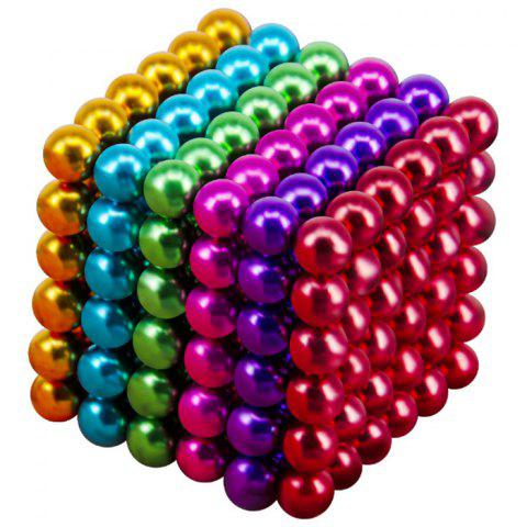 216 Super Strong Magnetic Round Ball Toy 5mm - multicolor