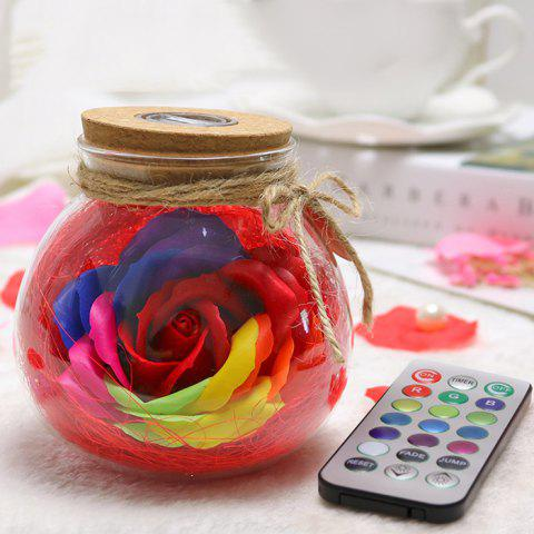 Creative Products Practical Eternal Flowers Soap Roses Wishing Bottles for Birthday Valentine Day Gifts - RED