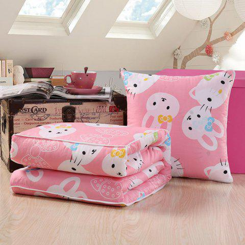 Cotton Pillow Multi-functional Cushion Office Lunch Break Dual-use Cover - PINK