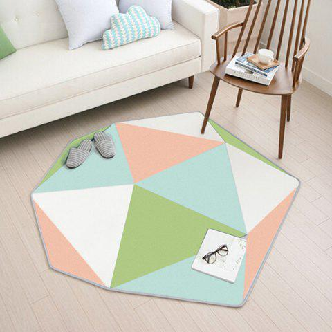 Dream Shape Shaped Home Nordic Carpet - GREEN PEAS 165 X 180CM