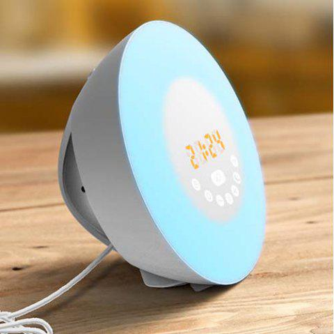 Natural Wake-up Light LED Multi-function Touch Colorful Alarm Clock - ROBIN EGG BLUE UK PLUG
