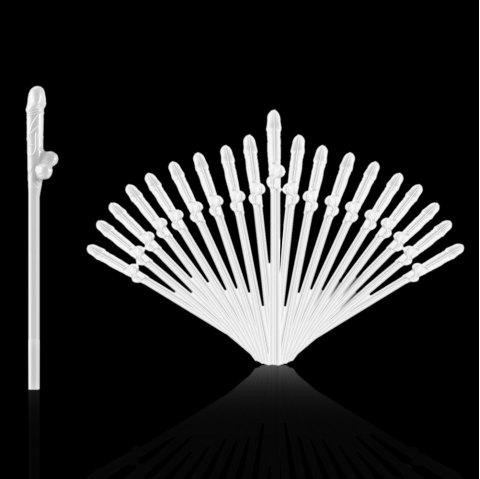 8 - P5656 - P27.1.05 Simple Useful Party Straw 20pcs - WHITE