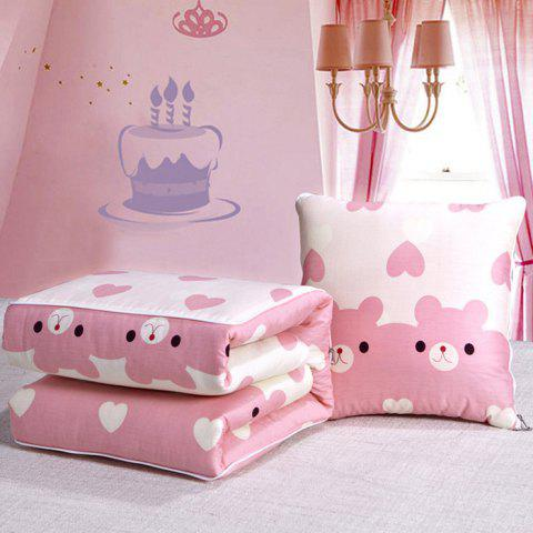 Multifunctional Cotto Dual-use Lunch Break Car Cushion Pillow Quilt - PIG PINK S