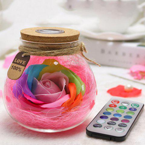 Creative Products Practical Eternal Flowers Soap Roses Wishing Bottles for Birthday Valentine Day Gifts - PINK ROSE