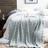 Fashional Cotton Knit Blanket - GRAY CLOUD