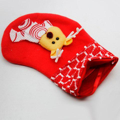 9 - K1322 L40.4.24 Flannel Cute Little Christmas Stocking - multicolor A