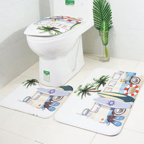 Bus Non-slip Absorbent Bathroom Toilet Seat 3pcs - CRYSTAL CREAM