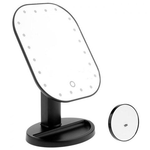 Creative Desktop LED Makeup Mirror - BLACK 1PC
