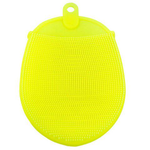 Bath Massage Silicone Soft Brush - YELLOW