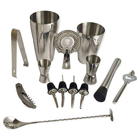 Stainless Steel Cocktail Set 13pcs - SILVER 800/600ML(13PCS)