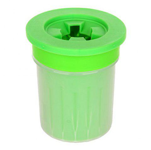 Silicone Dehydrated Husky Labrador Small Medium Dogs Pet Cleaning Foot Cup - GREEN