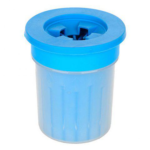 Silicone Dehydrated Husky Labrador Small Medium Dogs Pet Cleaning Foot Cup - SKY BLUE