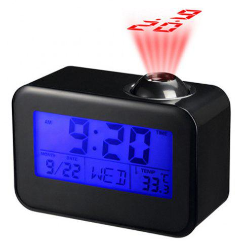Fashion Creative LED Voice-activated Projection Alarm Clock - BLACK