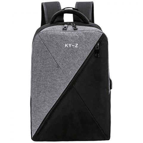 Smart USB Charging Oxford Cloth Computer Backpack - GRAY