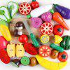 Children's Wooden Vegetable Fruit Magnetic Pretend Toy Set - RED